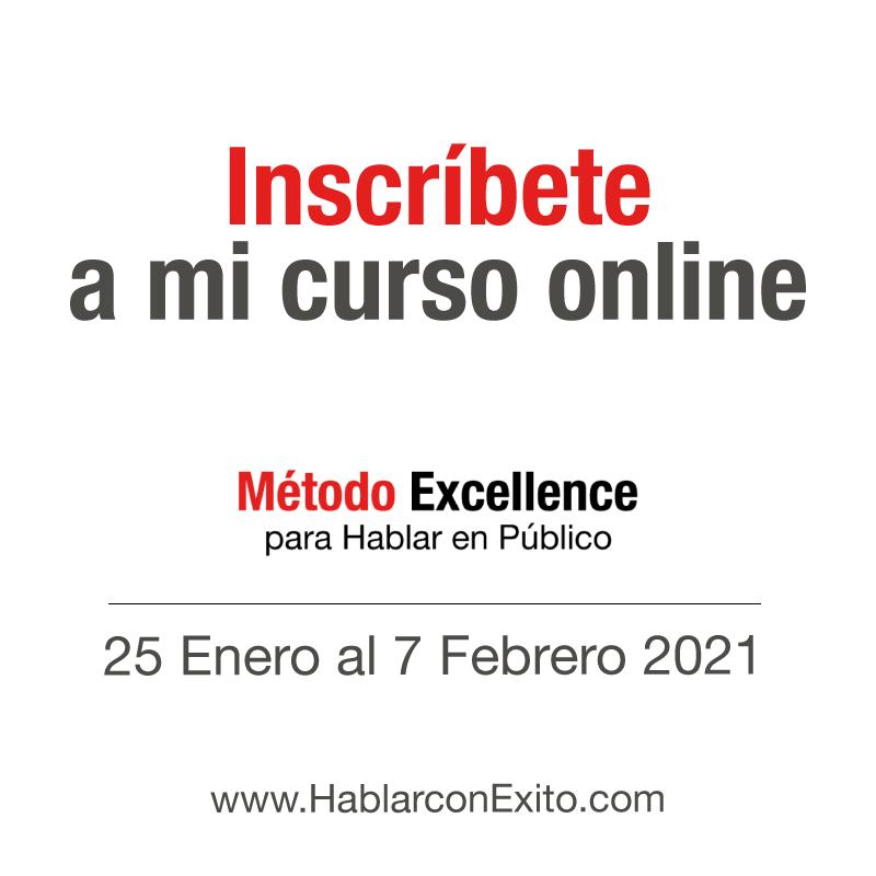 """Curso online para hablar en Público """"Método Excellence"""" de David Navarro."""
